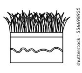 ground and grass icon vector...   Shutterstock .eps vector #556698925