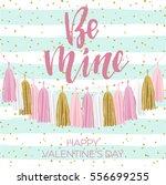 lettering valentine's day... | Shutterstock .eps vector #556699255