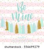 lettering valentine's day... | Shutterstock .eps vector #556699279