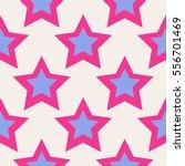 Pink And Light Blue Stars...