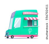 food truck illustration. vector  | Shutterstock .eps vector #556702411