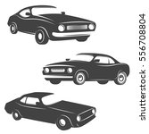 set of retro cars icons... | Shutterstock .eps vector #556708804