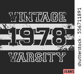 t shirt print design. number... | Shutterstock .eps vector #556711891