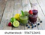 selection of fresh fruit... | Shutterstock . vector #556712641