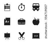 set of 9 editable education... | Shutterstock . vector #556719007