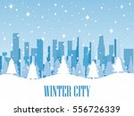 Winter City. Snow Covered...