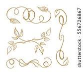 set of elegant floral elements... | Shutterstock .eps vector #556726867