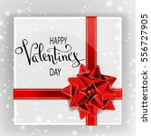 happy valentine's day greeting... | Shutterstock .eps vector #556727905