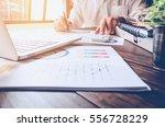 soft focus of businessman hand... | Shutterstock . vector #556728229