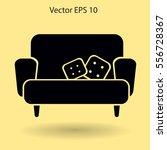sofa with pillows vector... | Shutterstock .eps vector #556728367