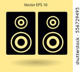play in loudspeakers vector icon | Shutterstock .eps vector #556729495