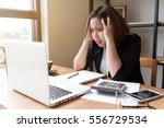 asian young woman accountant... | Shutterstock . vector #556729534