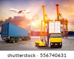 logistics and transportation of ... | Shutterstock . vector #556740631