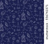 seamless pattern hand drawn... | Shutterstock .eps vector #556742371