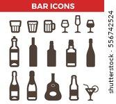 bar icons set for badges... | Shutterstock .eps vector #556742524