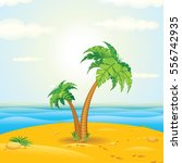 tropical island | Shutterstock .eps vector #556742935