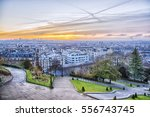 sunrise in paris  france.... | Shutterstock . vector #556743745