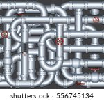 abstract 3d pipeline conduit... | Shutterstock .eps vector #556745134
