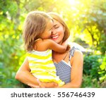 beautiful mother and her little ... | Shutterstock . vector #556746439