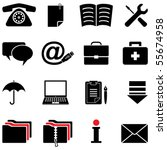 Computer Icon Set  Vector  Cmyk