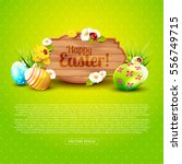 Cute Easter Greeting Card With...