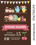 kitchen shower invitation card | Shutterstock .eps vector #556750195