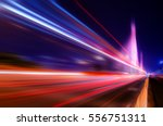 traffic car lights on road | Shutterstock . vector #556751311