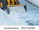 Snow Clearing. Tractor Clears...