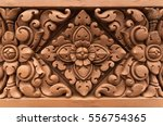 old stone carvings flowers on... | Shutterstock . vector #556754365