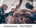close up of smiling friends... | Shutterstock . vector #556759831