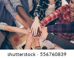 close up of diverse... | Shutterstock . vector #556760839