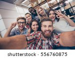 selfie of young smiling... | Shutterstock . vector #556760875
