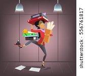 vector female business... | Shutterstock .eps vector #556761817