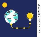 renewable energy concept flat... | Shutterstock .eps vector #556762855