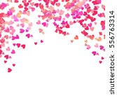 Pink Heart Shaped Confetti And...