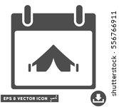camping calendar day icon.... | Shutterstock .eps vector #556766911