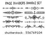 Set Of Page Divider In Doodle...