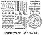 set of border  brush  frame ... | Shutterstock .eps vector #556769131