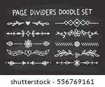 set of page divider in doodle... | Shutterstock .eps vector #556769161