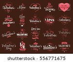 happy valentines day typography ... | Shutterstock .eps vector #556771675