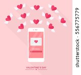 valentine's day illustration.... | Shutterstock .eps vector #556775779