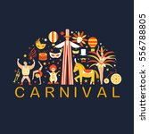 vector collection with carnival ... | Shutterstock .eps vector #556788805