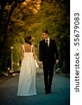 romantic wedding couple having...   Shutterstock . vector #55679083