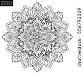 flower mandalas. vintage... | Shutterstock .eps vector #556792339