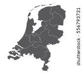 black map of netherlands | Shutterstock .eps vector #556793731