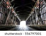 Inside A Covered Bridge