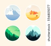 set of landscape icon. vector... | Shutterstock .eps vector #556805077