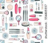 vector seamless doodle pattern... | Shutterstock .eps vector #556805557