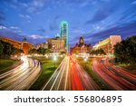 dallas downtown skyline at... | Shutterstock . vector #556806895