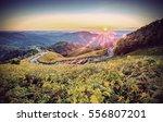landscape of doi mae u kor in...   Shutterstock . vector #556807201